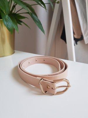 H&M Cinturón de cuero de imitación rosa-rosa claro