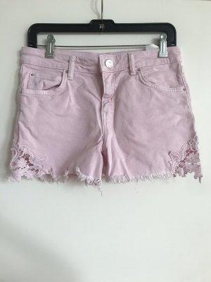 Hallhuber Pantalón corto de talle alto rosa claro
