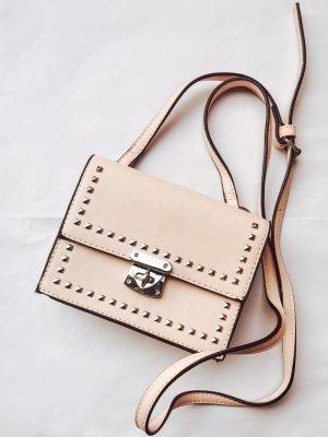 Rosa Handtasche klein mit Nieten
