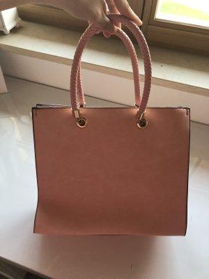 Rosa Handtasche mit vielen innen Taschen