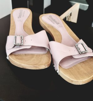 Dockers Sandalias con tacón rosa madera