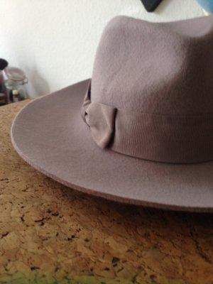 Accessorize Sombrero de fieltro rosa claro