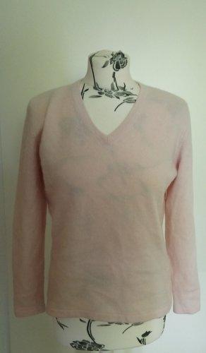 Fabiani Jersey con cuello de pico rosa-rosa claro