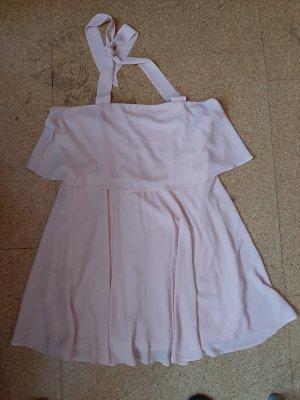 Asos Sukienka z dekoltem typu halter nude