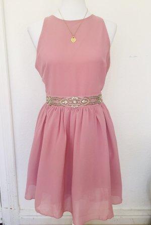 Rosa Kleid mit Perlen neu