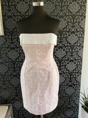Escada Abito senza spalle rosa chiaro-bianco Cotone