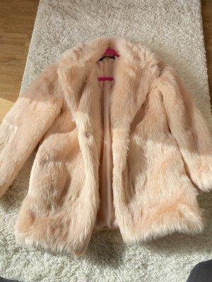 Cappotto in eco pelliccia rosa pallido-rosa chiaro