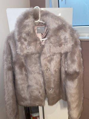 Asos Fur Jacket pink-dusky pink