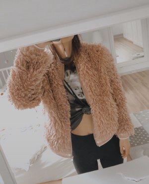 Zara Veste polaire rosé