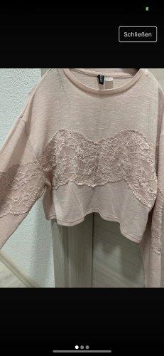 Rosa/Lachs Sweatshirt mit Spitze