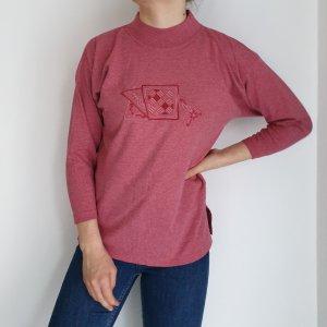 Rosa Langarmshirt Cardigan Strickjacke Oversize Pullover Hoodie Pulli Sweater Top True Vintage