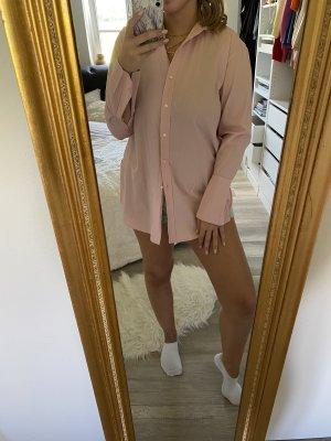 Rosa lange Bluse