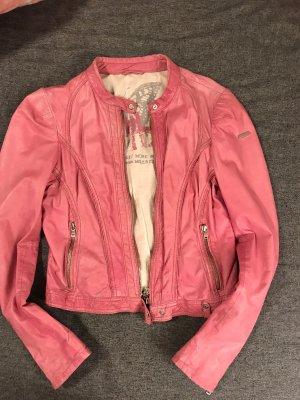 Milestone Leather Jacket pink