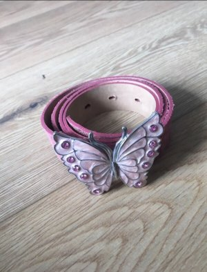 Tom Tailor Leather Belt pink