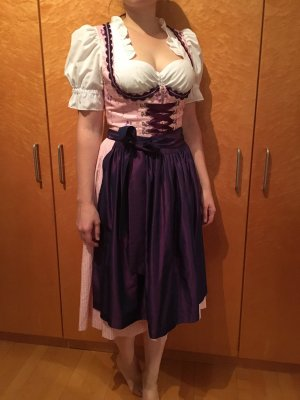 Rosa/lila Dirndl (Midi) inklusive Bluse