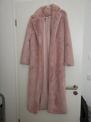 Oh Polly Giacca in eco pelliccia rosa antico-rosa chiaro