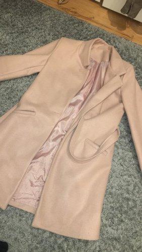 Cappotto in pile rosa antico