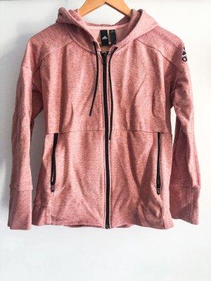 Rosa- melierter Hoody von Adidas selten getragen
