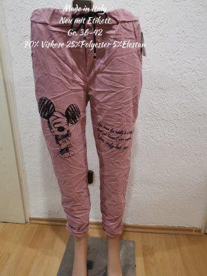 Made in Italy Flodderbroek zwart-roze