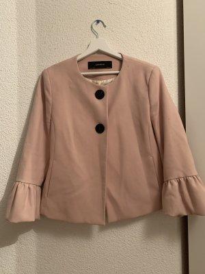Zara Blazer corto color oro rosa-nero