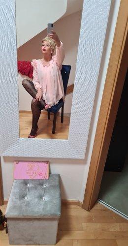 Palomablue Chiffon jurk lichtroze