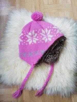 Bonnet cache-oreilles multicolore