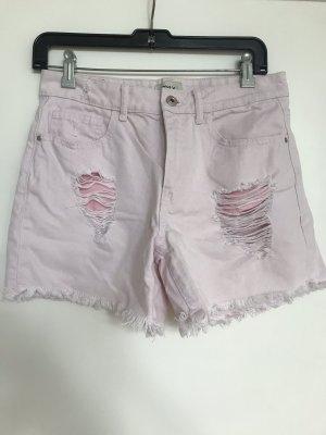 Only High-Waist-Shorts pink