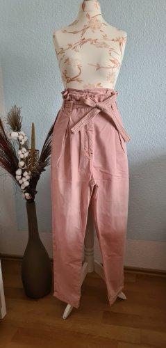 AndOtherStories Pantalón de pinza alto rosa empolvado-rosa