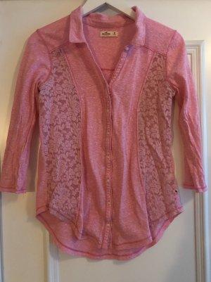 Rosa Pink Bluse Hemd von Hollister Größe M 38