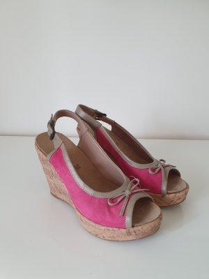 Rosa/Pink Keilabsatz Schuhe
