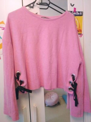 rosa/pinke crop pullover