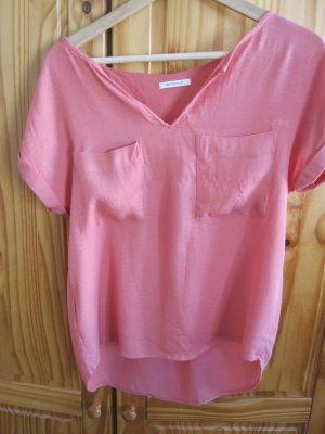Rosa- Pinkes Blusenoberteil in Größe 40, ich finde es ist eher eine 38, 100% Viscose