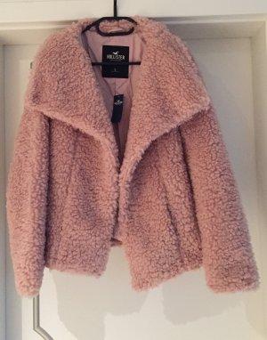 Hollister Giacca in eco pelliccia rosa