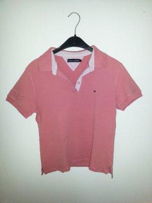 Tommy Hilfiger Polo shirt wit-roze
