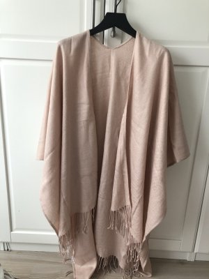 Knitted Poncho rose-gold-coloured