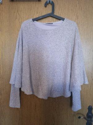 Rosa Poncho Langarm Shirt
