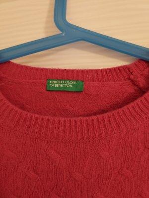 Benetton Vestido de lana rojo frambuesa-magenta