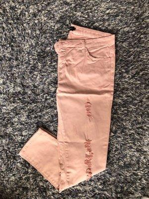 Bodyflirt Jeansy o obcisłym kroju różowy