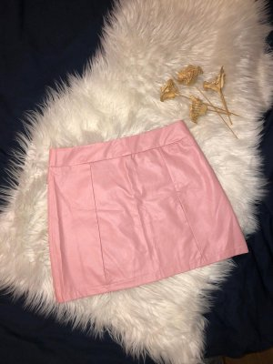 unknown Faux Leather Skirt pink