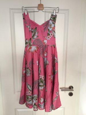 Rosa Rockabilly-Kleid von Hell Bunny wie NEU, Gr.XS