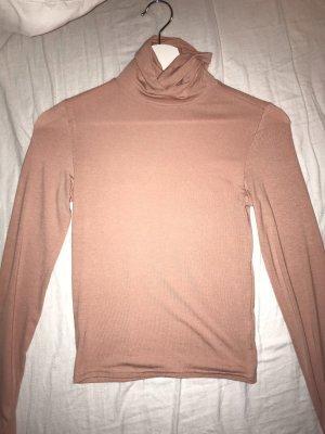 H&M Camisa de cuello de tortuga rosa