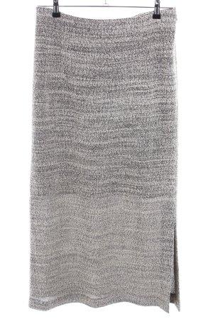 Rosa Ronstedt Falda larga gris claro-blanco moteado look casual