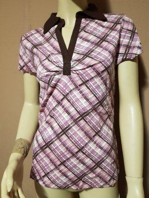 rosa rot kariertes Poloshirt NEU Gr. 36/38