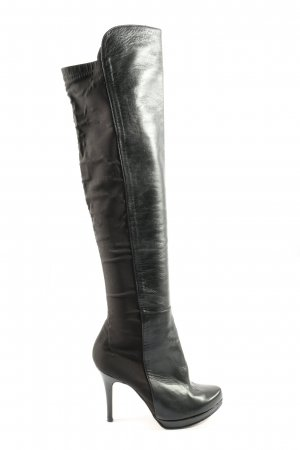 Rosa Rot Wide Calf Boots black-brown business style