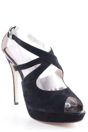 Rosa Rot Zehen-Sandaletten schwarz Elegant