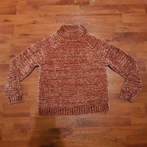 Rosa-roter Pullover aus Chenille von Vero Moda