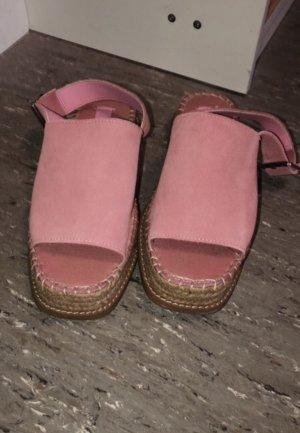 Asos Alpargatas rosa-beige