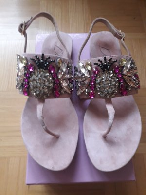 Di' nuovo Toe-Post sandals light pink leather