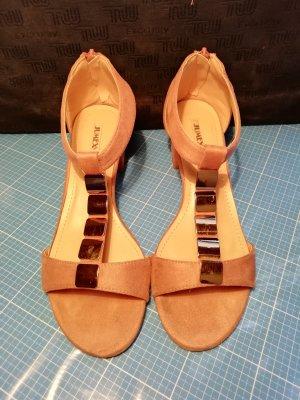 Jumex T-Strap Sandals dusky pink