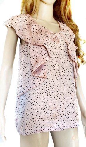 Soaked in luxury Blusa nero-rosa chiaro Poliestere